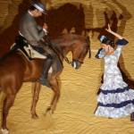 Baile caballo y bailaora