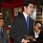 Alejandro Talavante agradeciendo uno de sus premios